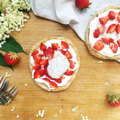 Erdbeer-Holunder-Minitartes